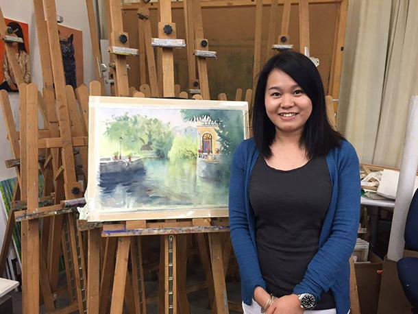 "Ann Chan, artista de aguarelas: ""Sempre tive interesse em pintar"""