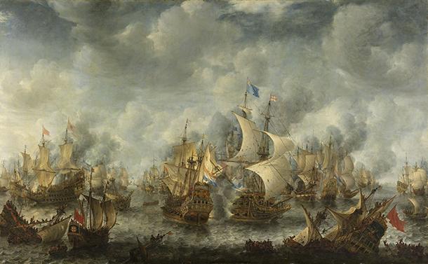 A armada inglesa no Mar da China