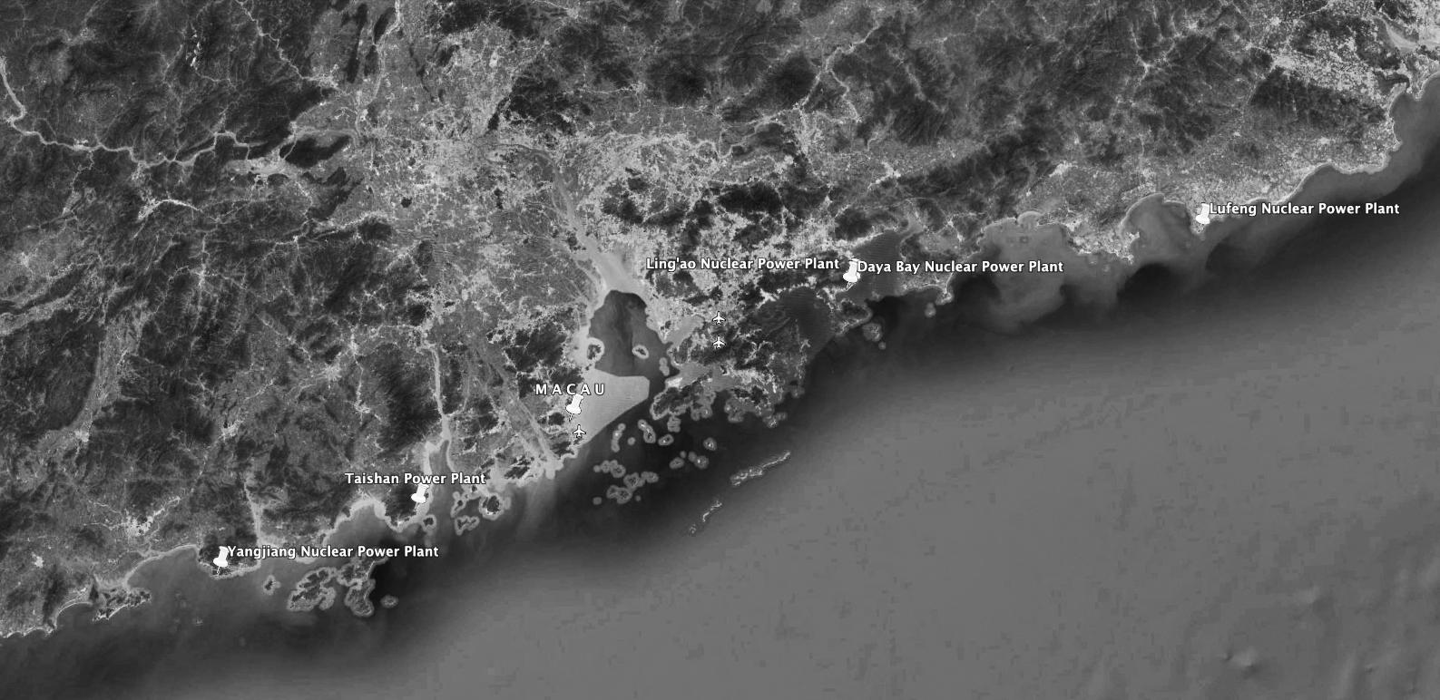 Nuclear | Cinco centrais a funcionar ou em construção ao largo de Macau