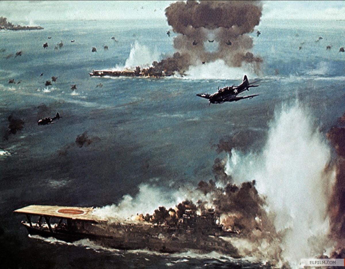 Dois tiros no porta-aviões e um no contratorpedeiro