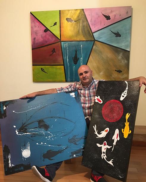 "Miguel Lança: ""Recorri à pintura para aliviar o stress"""