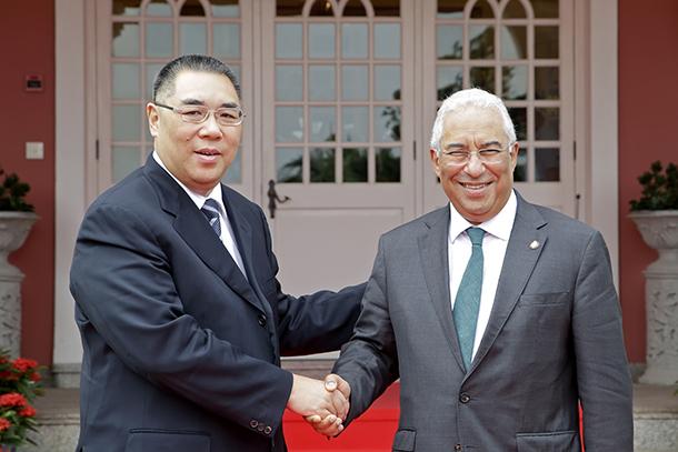 Fórum | Chui Sai On manteve encontros com Costa e delegações dos PLP