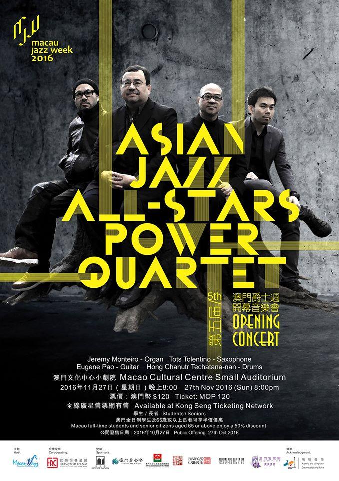 Quarteto All Stars Power actua na 5ª Semana do Jazz de Macau