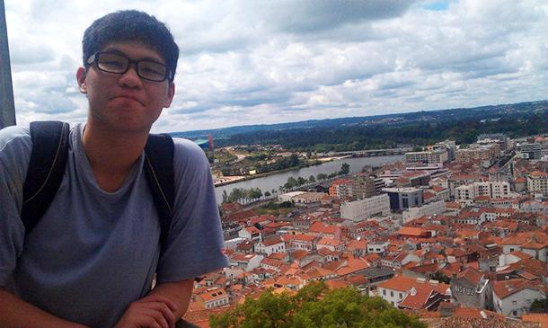 Leung Chon Kei, estudante de Direito   Coimbra é uma lição
