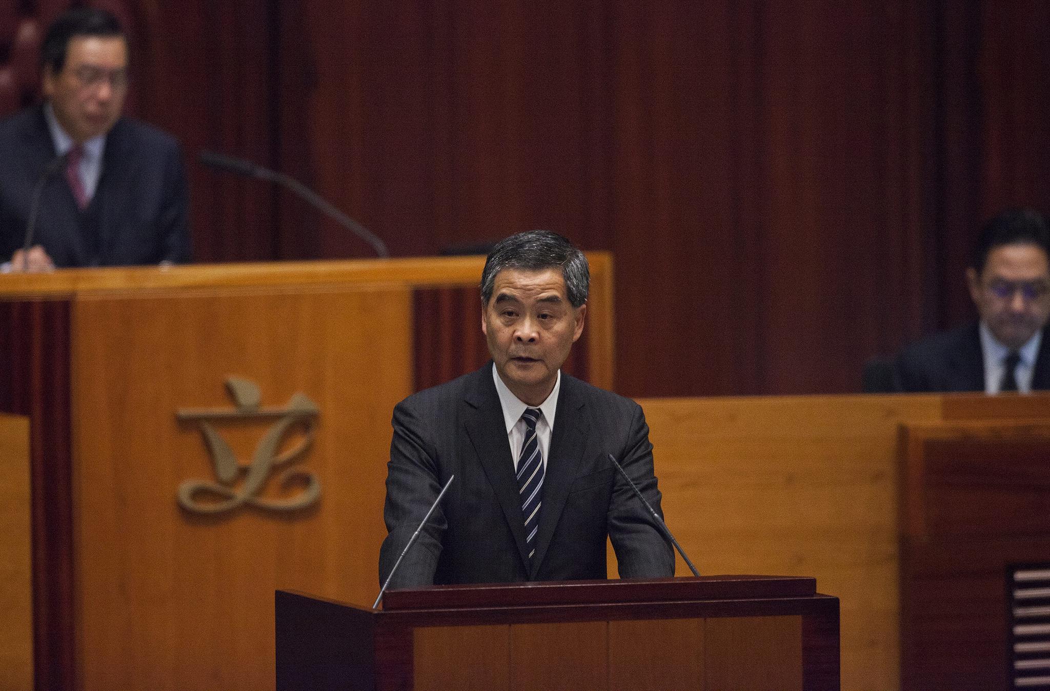 Hong Kong | Últimos planos anuais de C.Y. Leung