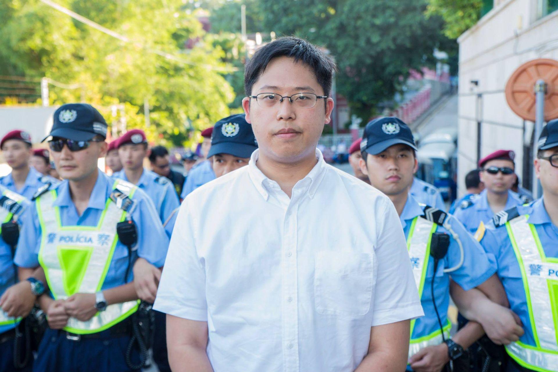 Vigília   Jason Chao fala de abuso de poder por parte das autoridades