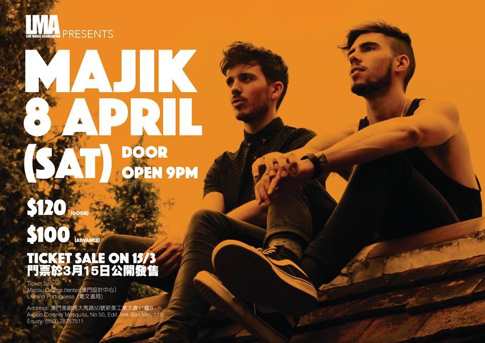 Live Music Association recebe amanhã a música da dupla britânica Majik