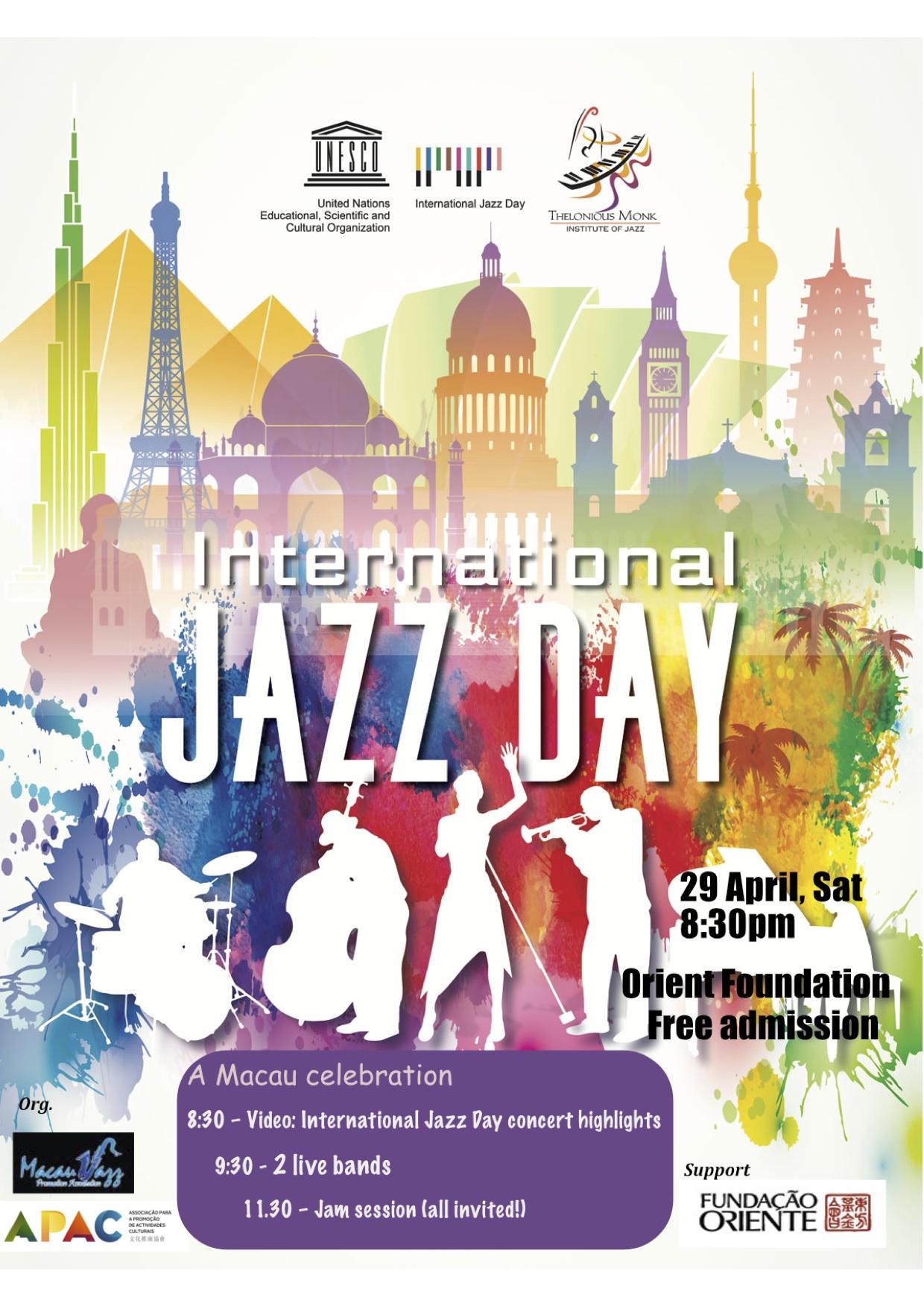 Jazz   Dia Internacional celebrado sábado na Casa Garden