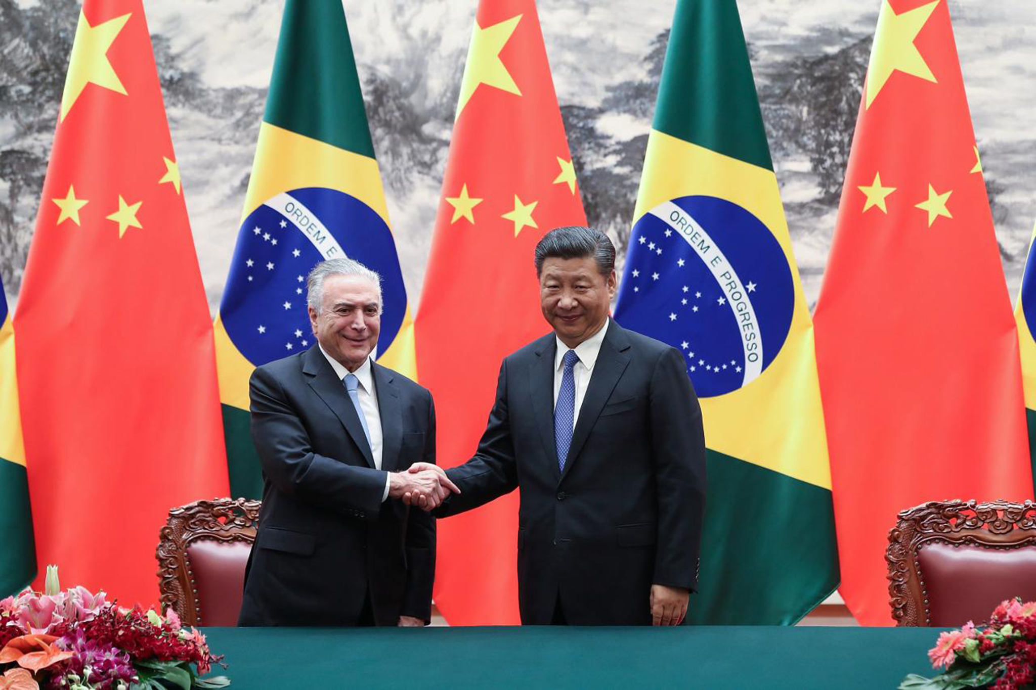 Michel Temer em Xiamen para participar na cimeira do BRICS