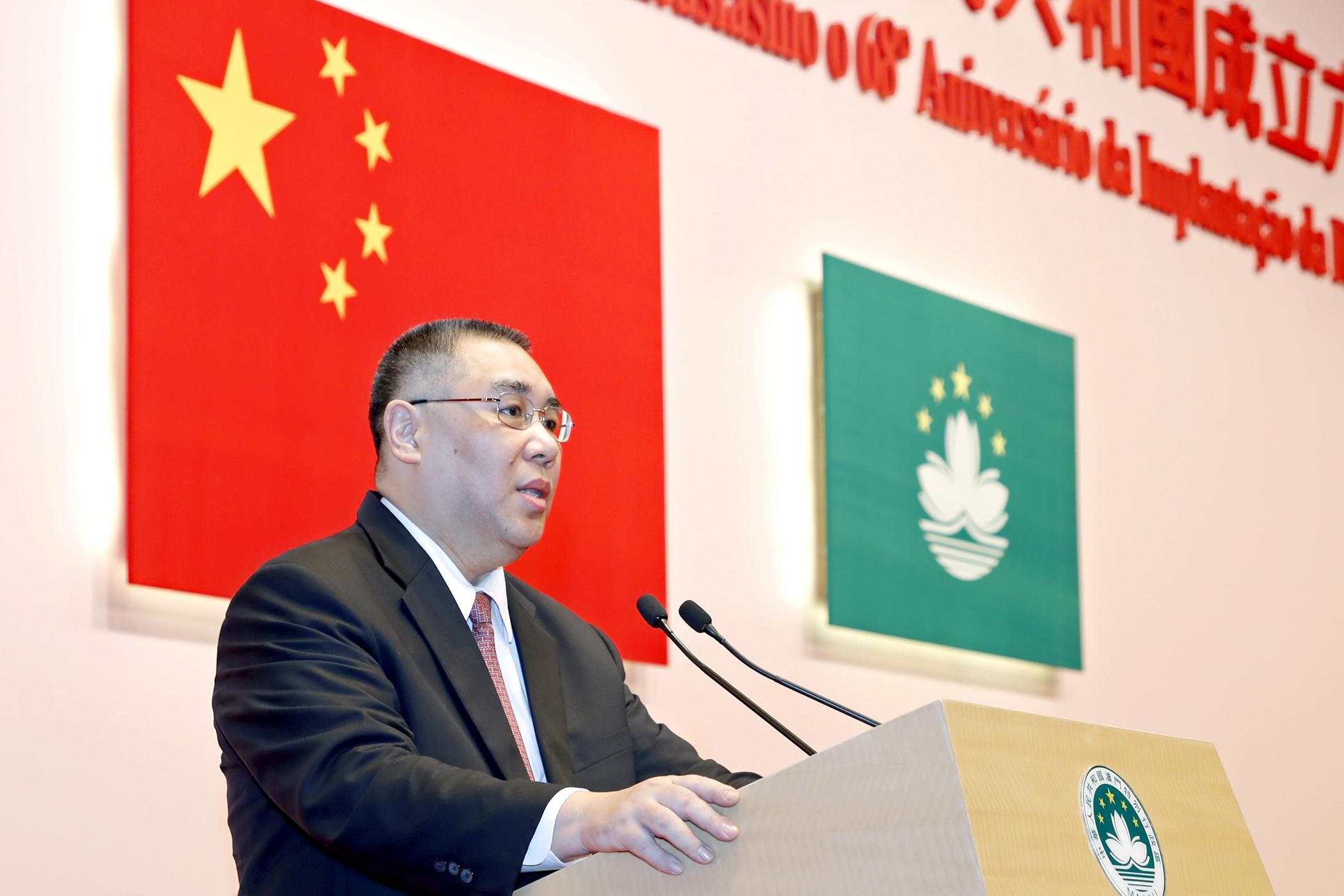 Aniversário da RPC   Chui Sai On destaca segurança social, saúde, habitação e o ensino