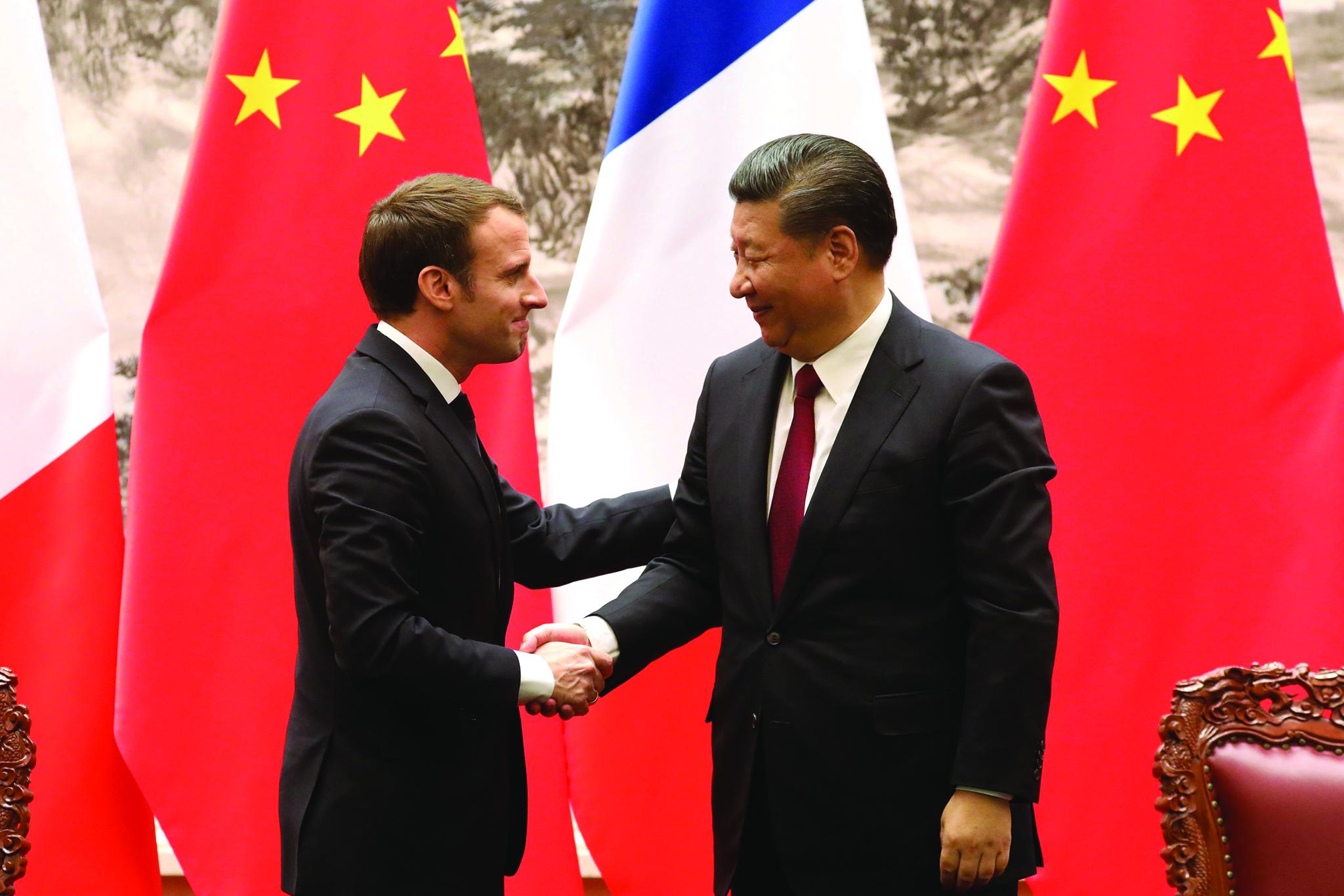 Macron pede a Xi Jinping equilíbrio na relação económica