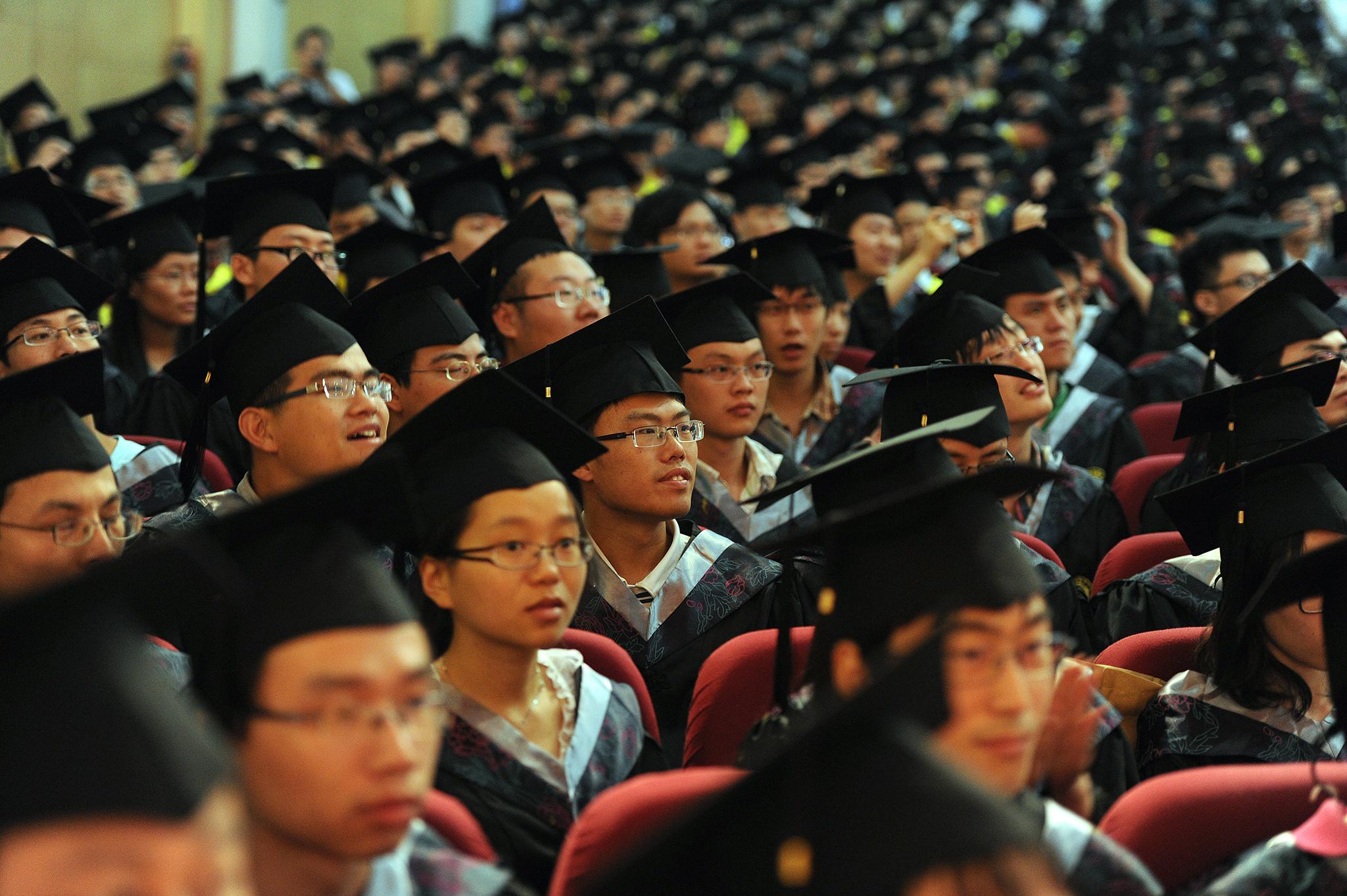 43 por cento dos estudantes chineses entram para a universidade