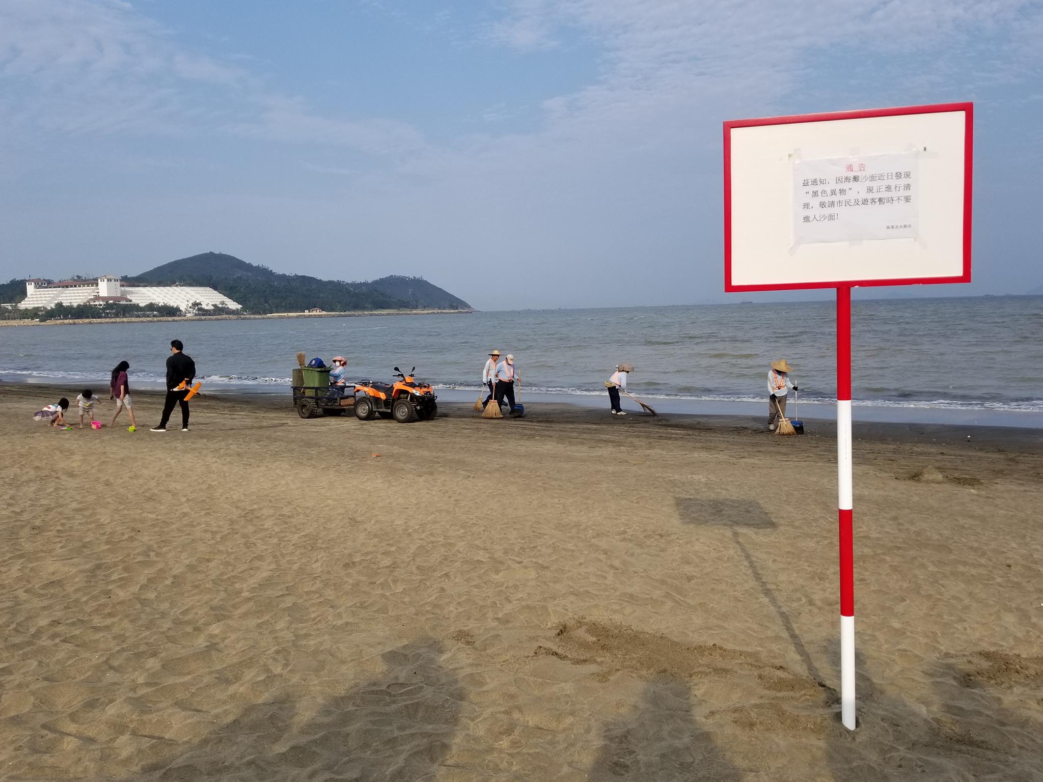 Combustíveis voltam a aparecer na Praia de Hác Sá
