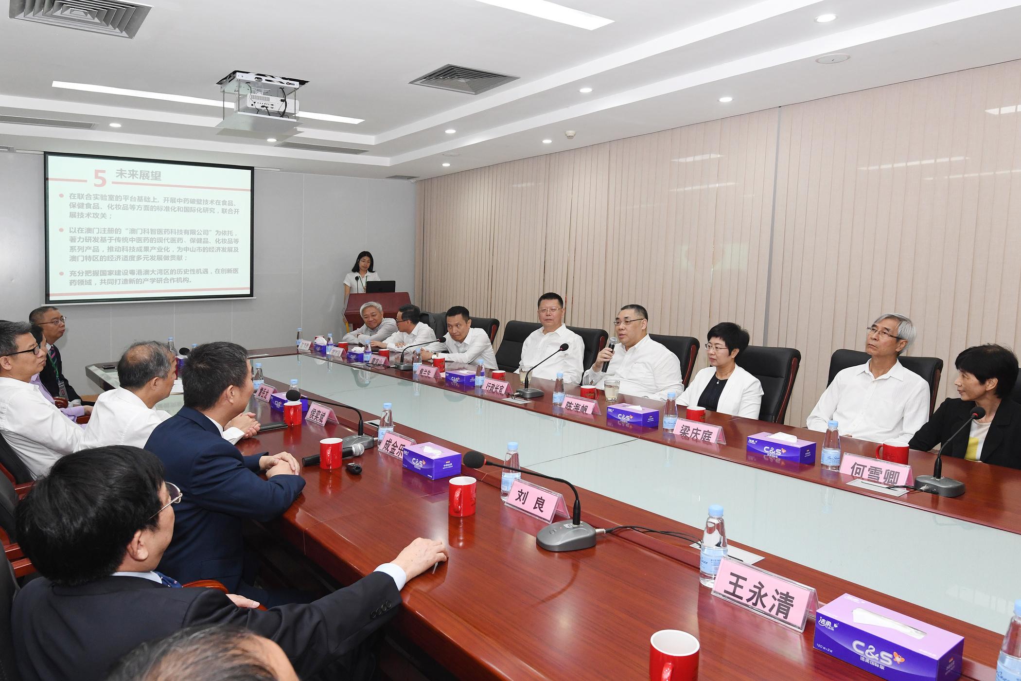 Visita Chui Sai On | Cooperação com Zhongshan aposta na medicina