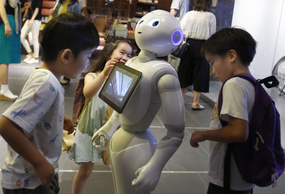 Japão   Robôs nas salas de aula para ensinar inglês