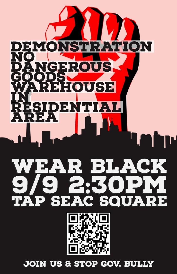 Substâncias perigosas | Protesto marcado para 9 de Setembro