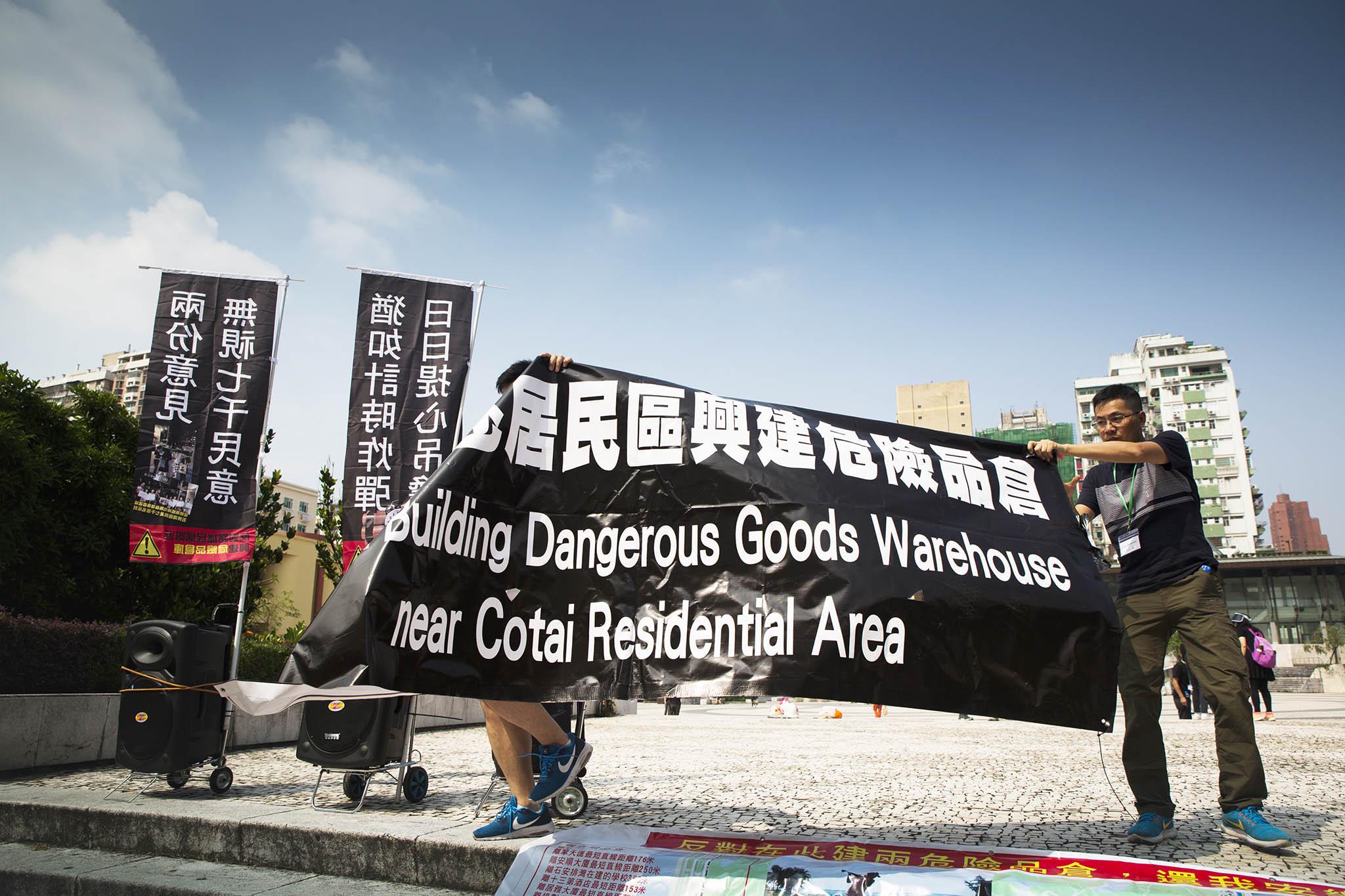 Substâncias perigosas |Manifestação juntou centenas de residentes
