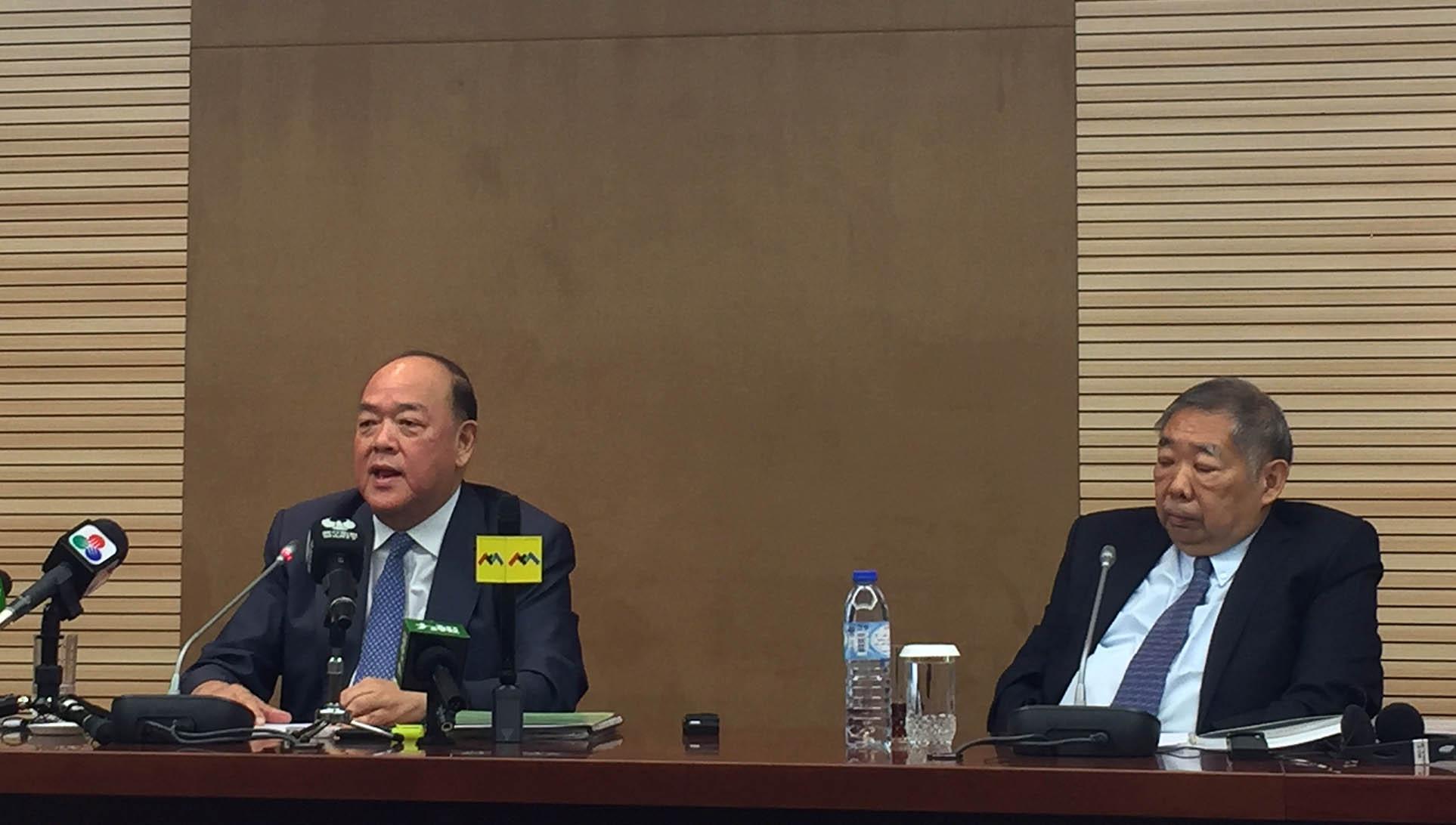 Ho Iat Seng apoia nova Comissão de Defesa de Segurança do Estado