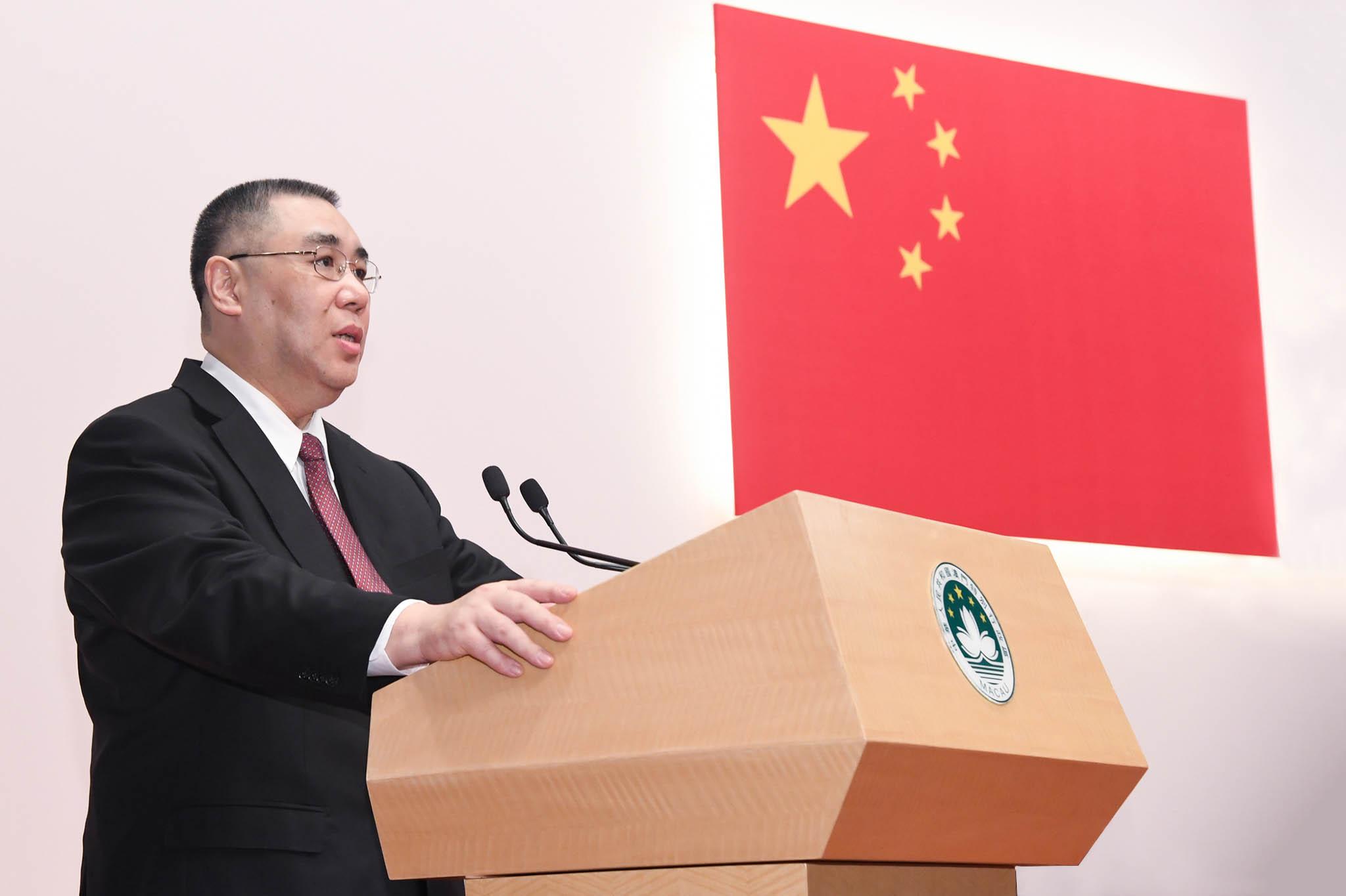 """Chui Sai On reforça que Macau deve """"alinhar-se com estratégias nacionais"""""""