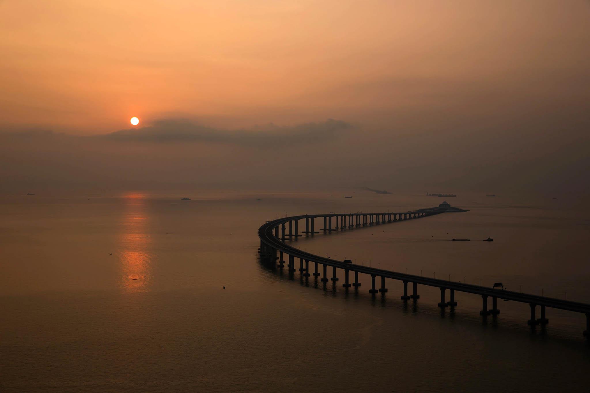 Cerimónia de inauguração da ponte Hong Kong-Zhuhai-Macau