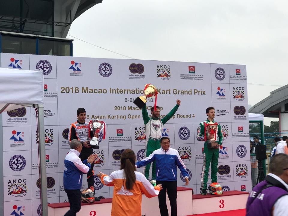 Karting | Ardigò volta a vencer o Grande Prémio de Macau