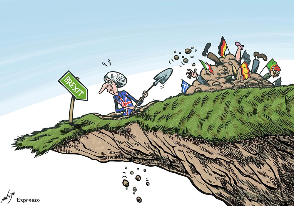 Cartoon | Rodrigo de Matos em exposição internacional sobre o Brexit