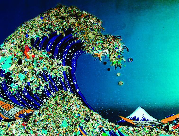 A poluição plástica