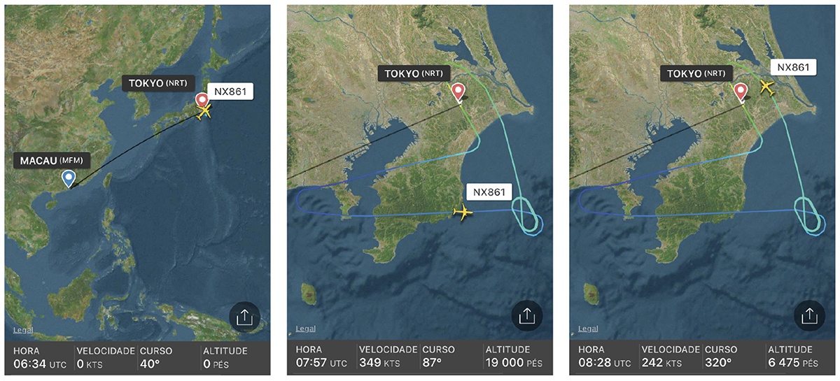 Air Macau   Novo Airbus abortou viagem entre Tóquio e Macau