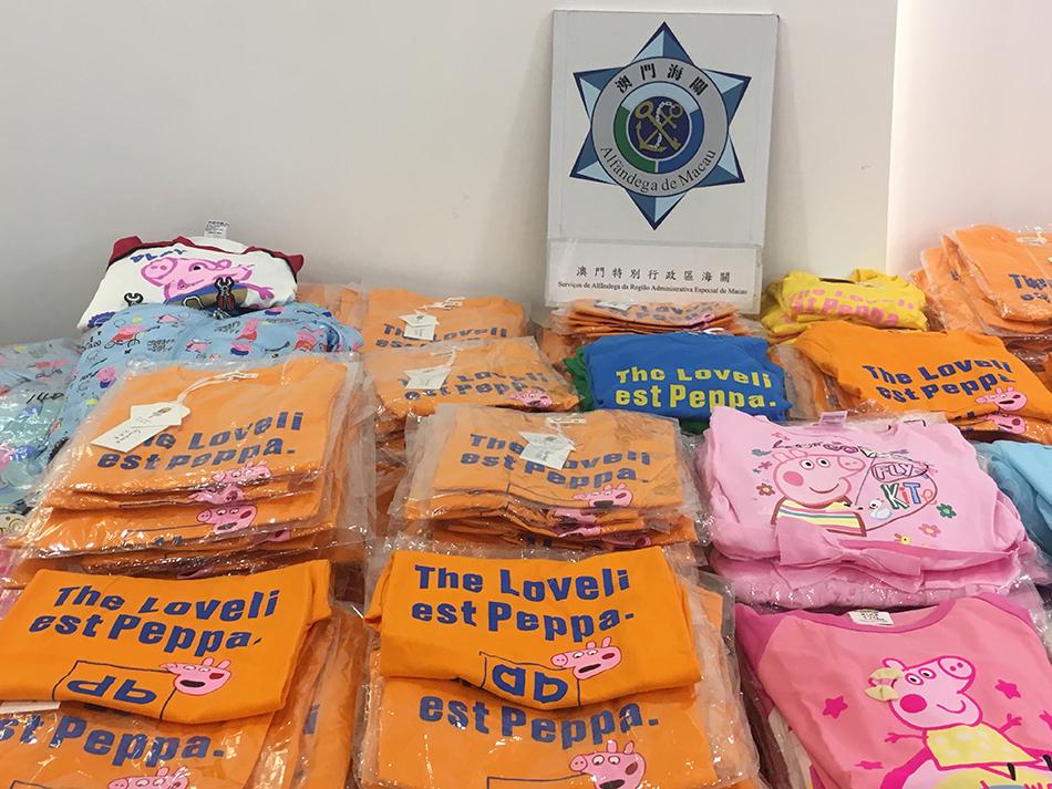 Alfândega   Apreendido vestuário infantil contrafeito e detidas sete pessoas