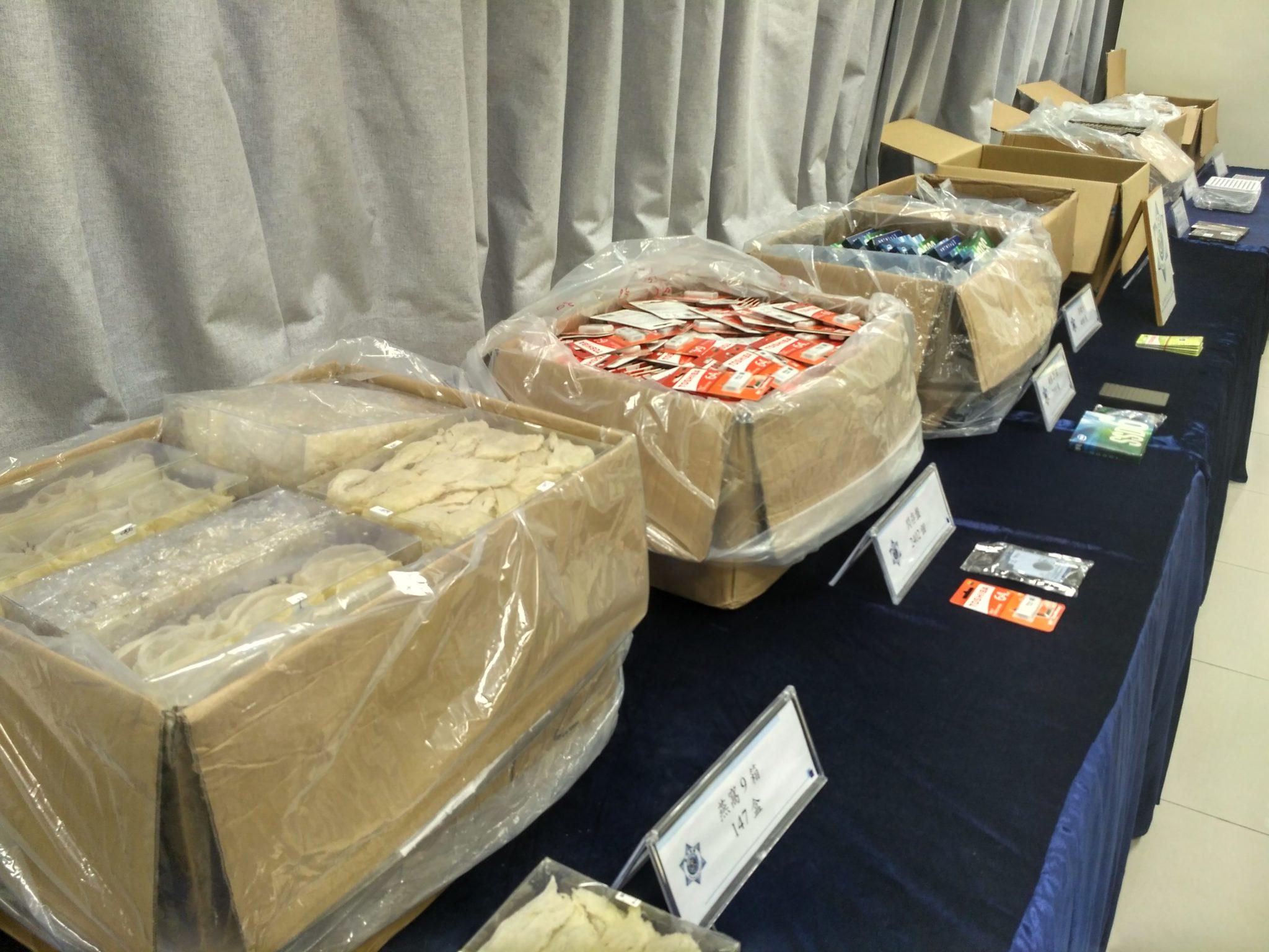 Crime   Apreensão de 15 milhões em ninhos de andorinha e material electrónico
