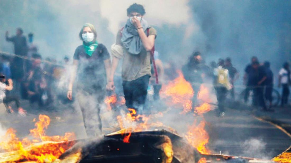 Chile | Protestos violentos resultaram em, pelo menos, oito mortos