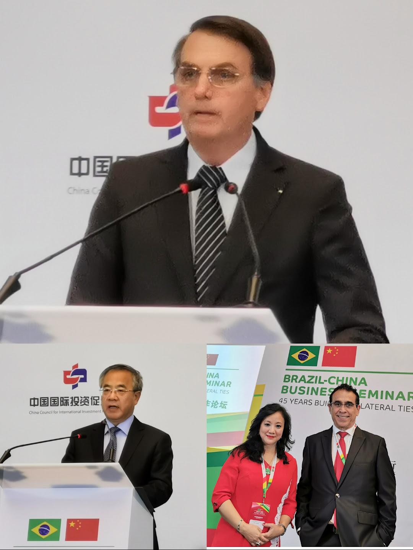 Seminário | Pereira Coutinho e Rita Santos com Bolsonaro na China