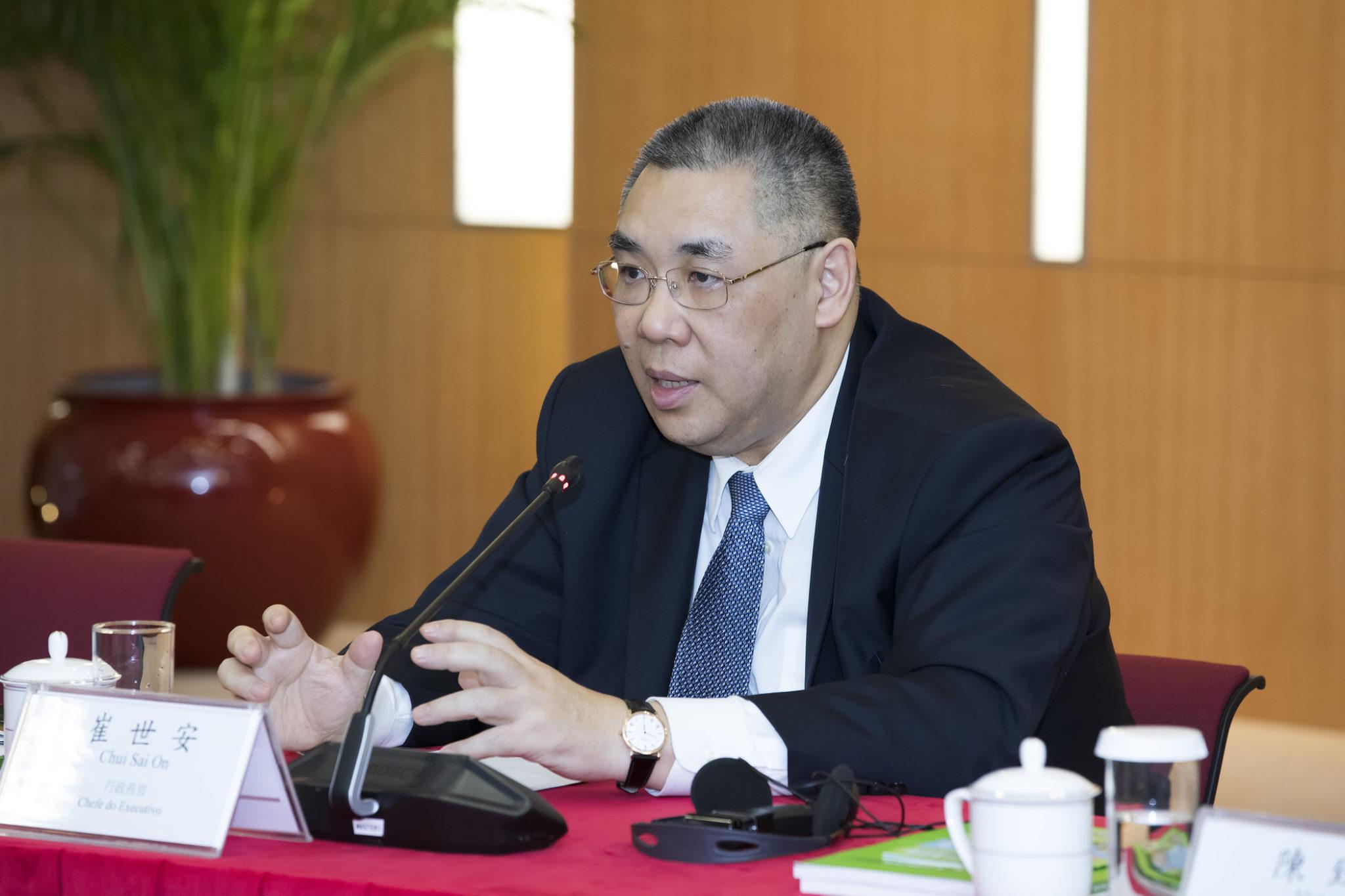 Fernando Chui Sai On, ex-Chefe do Executivo, agraciado com Medalha do Grande Lótus