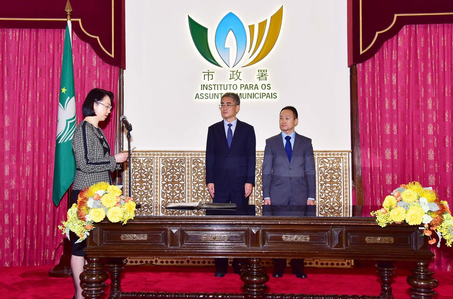 IAM   O Lam toma posse como vice do Conselho de Administração