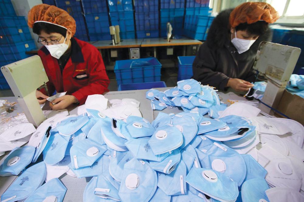 Fabrico diário de máscaras em Zhuhai supera um milhão