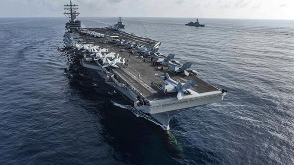 Mar das Filipinas | Porta-aviões dos EUA em manobras contra reivindicações chinesas