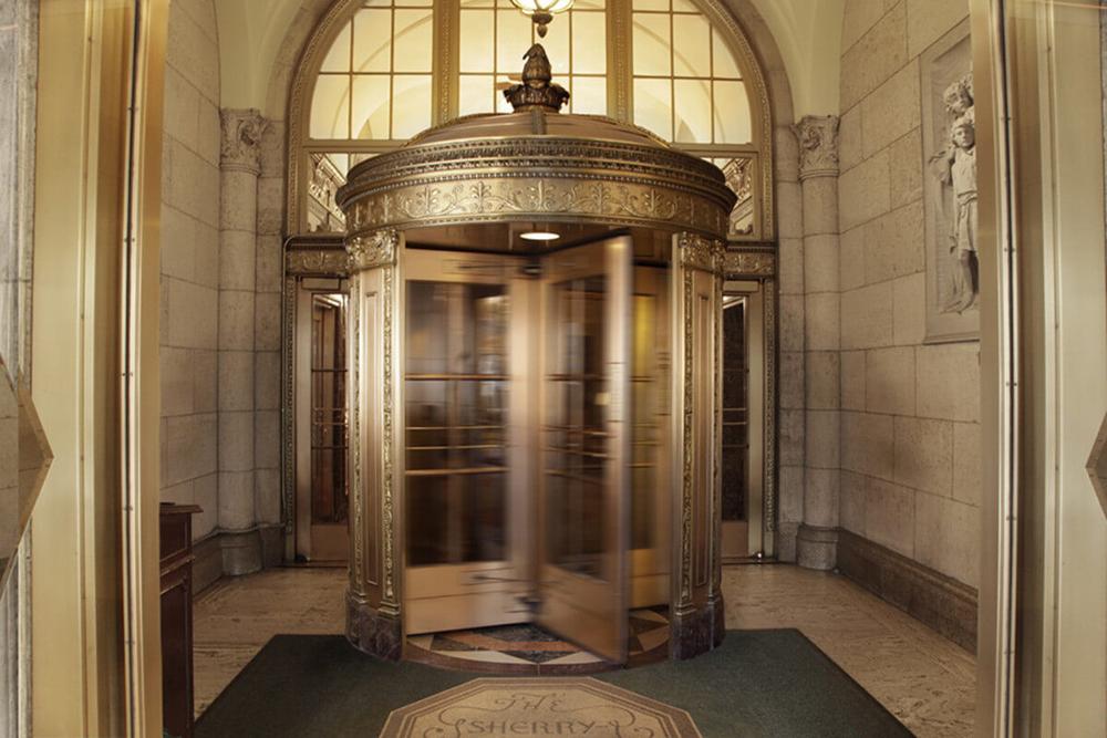 A porta giratória