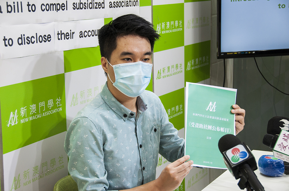 Fundos públicos | Sulu Sou propõe divulgação de informações por associações