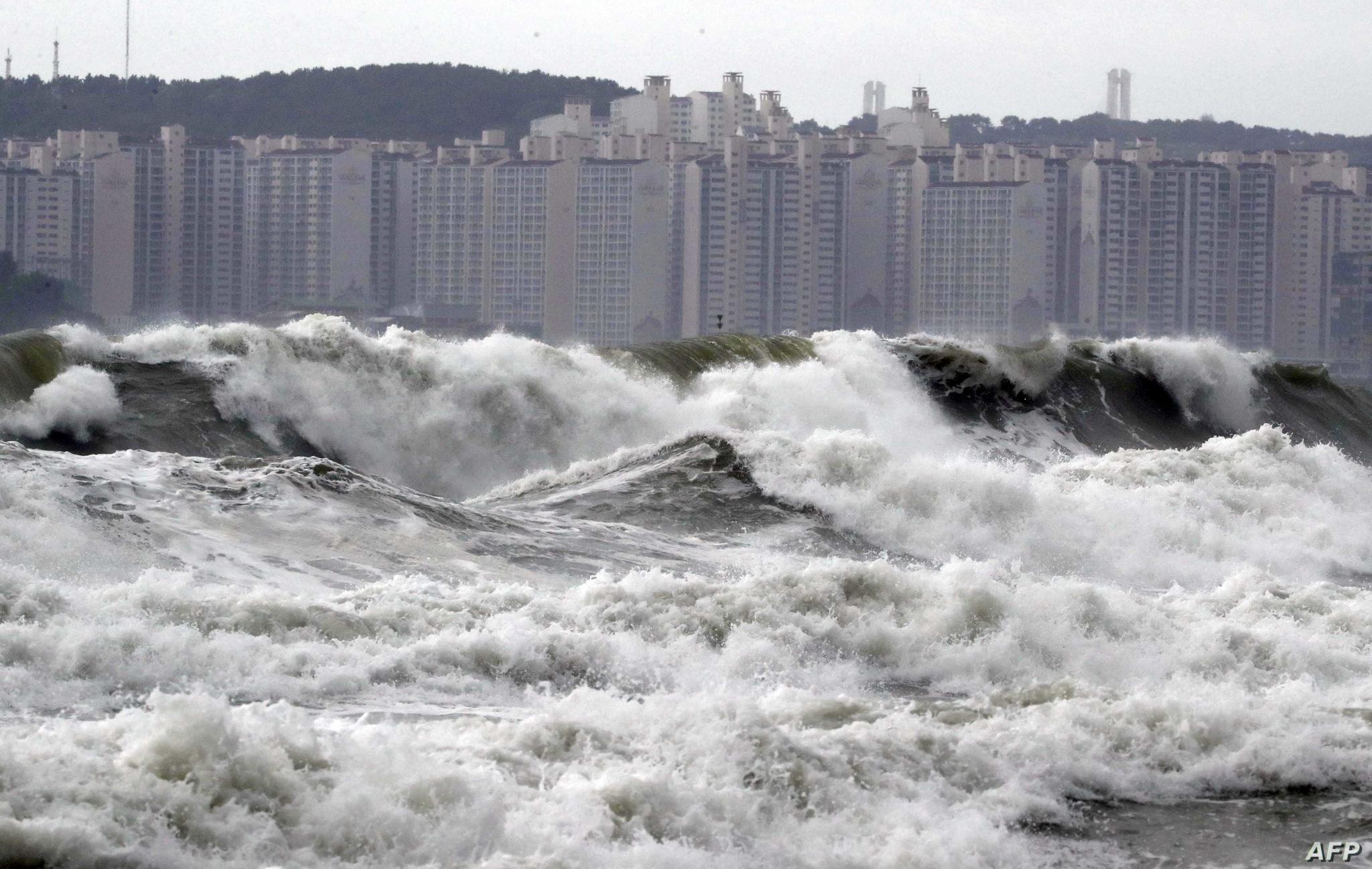 Tufão faz estragos na Coreia do Sul, após causar mais de 20 feridos no Japão