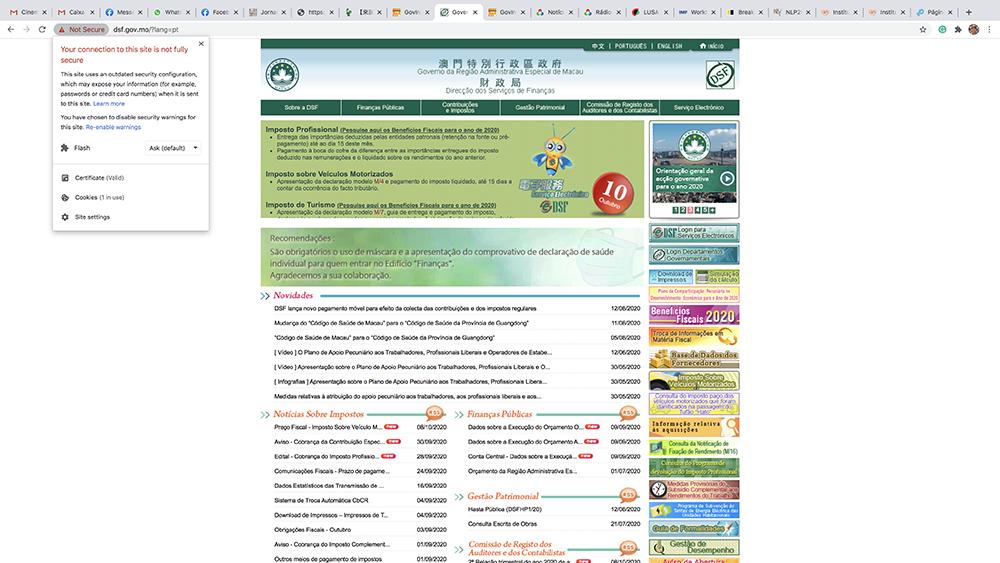 GPDP | Aberta investigação sobre falhas no website da DSF