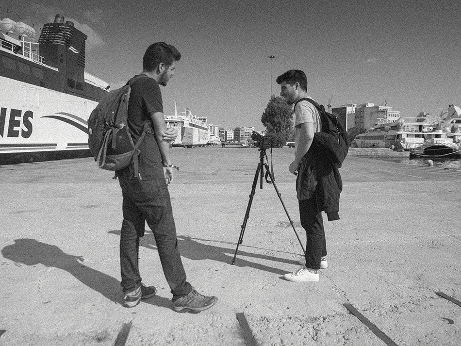 """Tomás Barão da Cunha, realizador do documentário """"Egeu"""" e Pedro Santos, produtor: """"Um postal da realidade"""""""