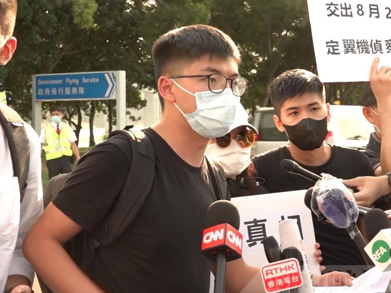 Joshua Wong diz que combate em Hong Kong continua após ter sido condenado