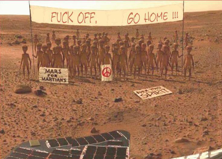 Marte e a agência barata