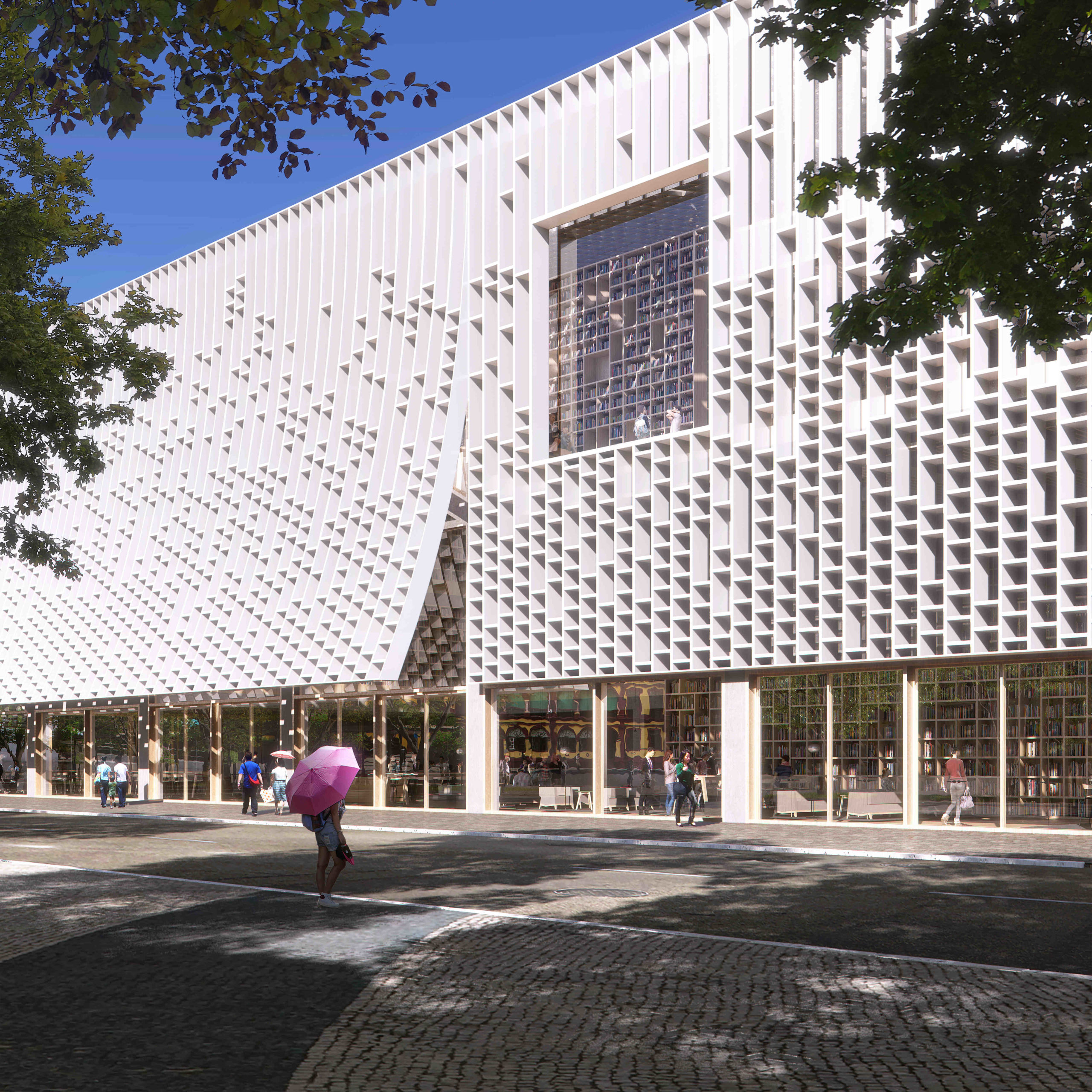 Projecto de atelier holandês escolhido para a Biblioteca Central