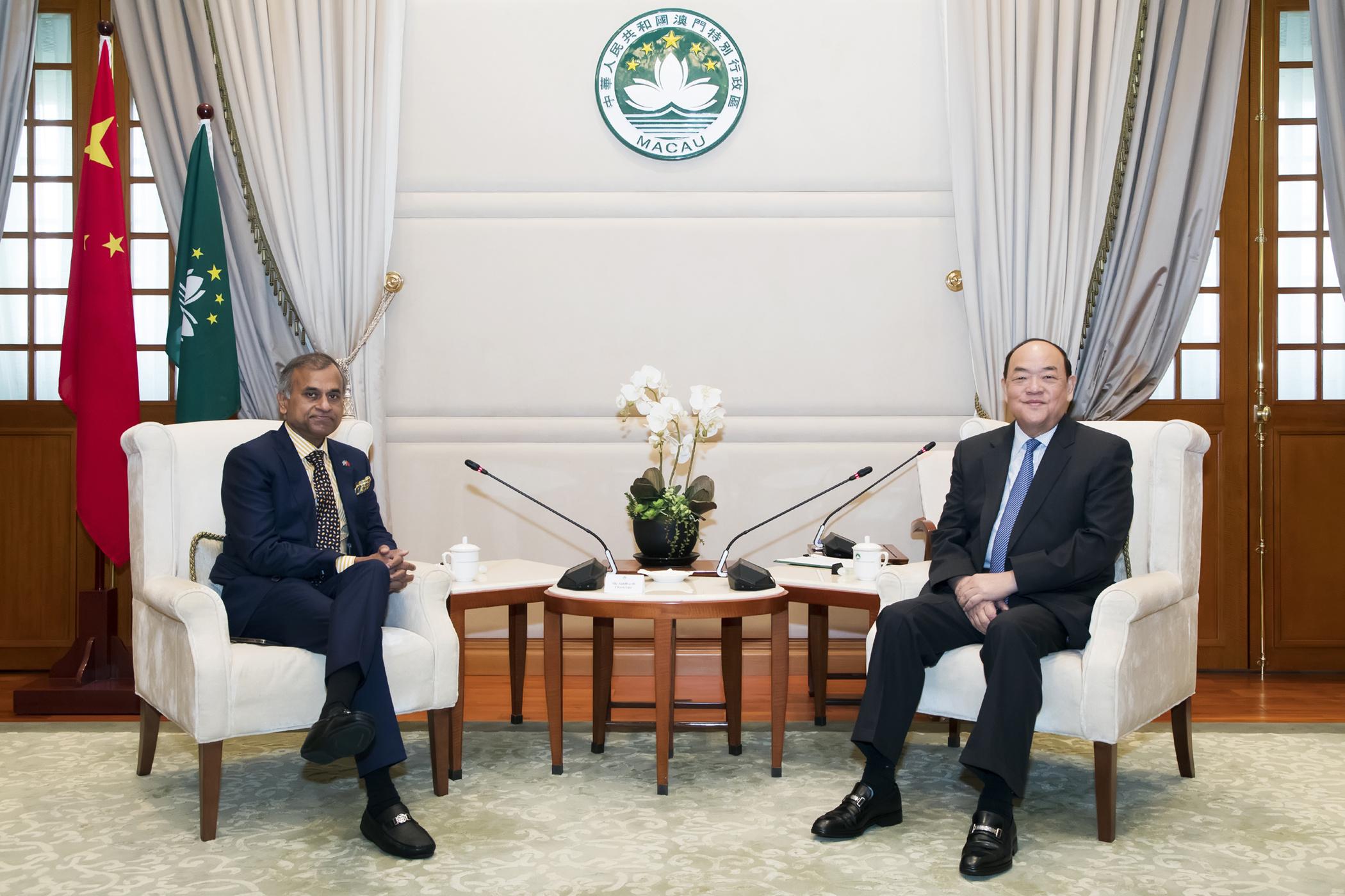ONU | Chefe do Executivo reuniu com coordenador residente na China