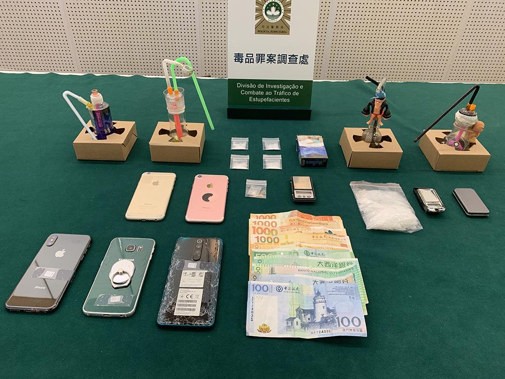 Detidos três suspeitos por consumo e tráfico de droga