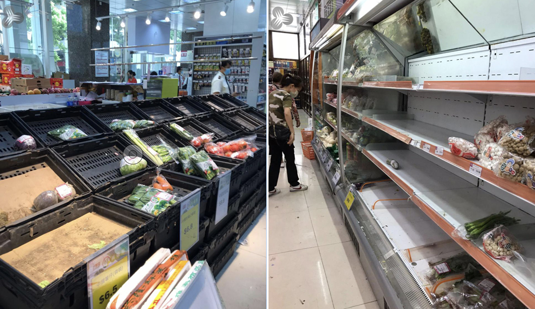 Tufão Kompasu leva a corrida aos supermercados